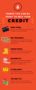 Things you can do today to help your credit